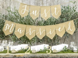 Baner Just Married- jutowy